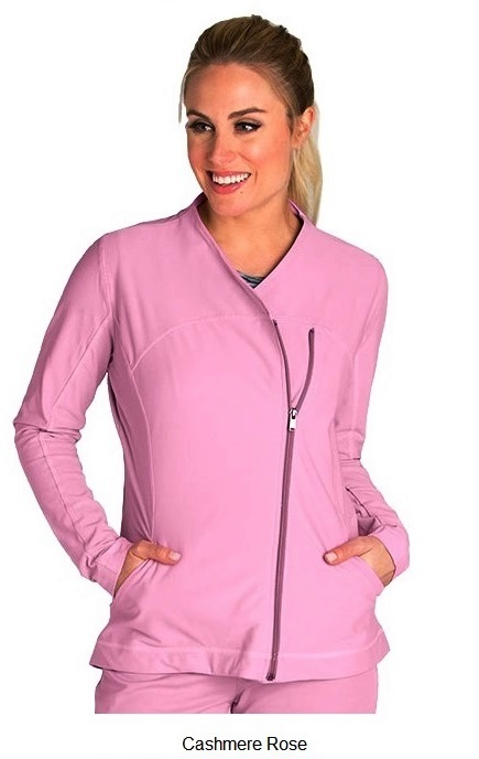 GA7445 Grey's Anatomy IMPACT Jacket *Dupont SORONA Performance Fabric - Athletic Design* CASHMERE ROSE FINAL SALE