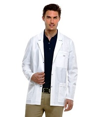 81403 Dickies Men Lab Coat STRETCH Snap Button