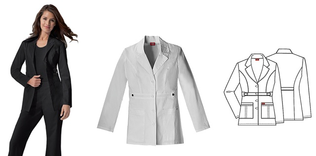 82408 Dickies &quot;Youtility&quot; Lab Coat  *Stretch* <br>XXS - 3XL