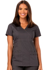85820 Dickies Fit Mock Wrap Top XXS to XL <br>Brushed Soft Polycotton <br>Junior Fit