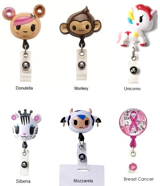Tokidoki Unicorno Retractable Badges