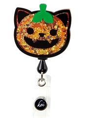 A156-CPK  koi Shaker Badges Cat Pumpkin