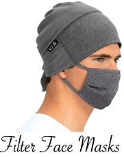 A159 Koi Filter Face Mask <br>Washable - Available in 3 Colors (Black, Grey, Pink)