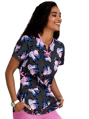 B107PR-BSR Koi Koi Betsey Johnson Cosmos Top Betsey's Scented Rose - XS