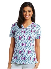 B5107-ELM Barco One Scrub Top STRETCH <br>FALL 2017 *FINAL SALE* 4XL