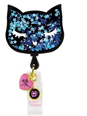 BA156-CTS Betsey Retractable Badges BLUE CATS