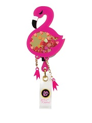 BA156-FLG Betsey Retractable Badges FLAMINGO