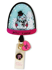 BA156-SGR Betsey Retractable Badges Snow Globe