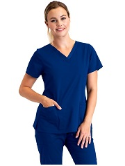 BE001 Barco Essentials Scrubs Women Top<br>STRETCH, DURABLE, HIGH TEMP WASH
