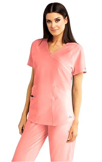 BWT008-CORAL Barco One Wellness Scrub Top <br>Bio-Mineral Infused
