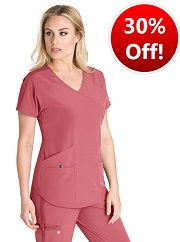 BWT008 Barco One Wellness Scrub Top <br>Bio-Mineral Infused <br>FINAL SALE