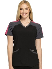CK690A Cherokee Infinity Color block V-Neck Top