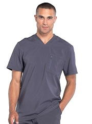 CK910A Cherokee *Certainty Antimicrobial Stretch* Men Scrub Top
