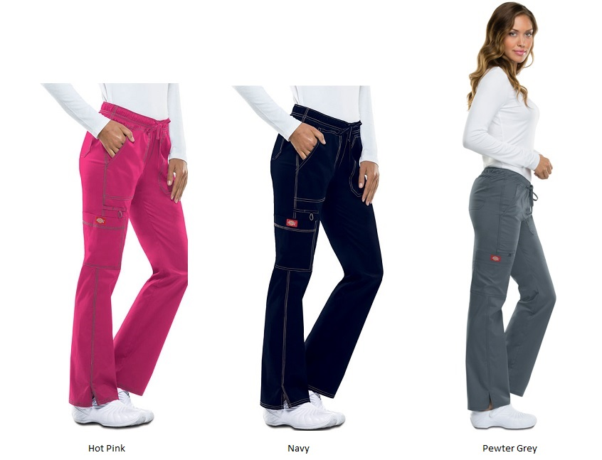 DK100 Dickies Gen Flex Low Rise Straight Leg Drawstring Pant *STRETCH*