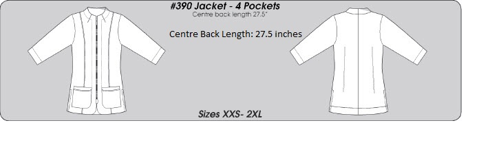 E390J Excel Spa Uniform <br>(XXS - 3XL) *4 Way-Stretch*