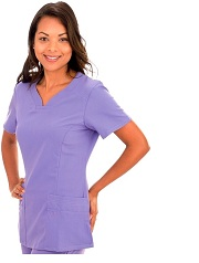 E396T Excel Scrub Top Slim Fit  (XXS - 2XL) *Stretch - FINAL SALE*