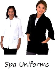 E835J Excel  Two-Ways Zipper Spa Uniform <br>(XXS - 2XL) *Stretch*