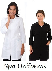 E865J Excel  Two-Ways Zipper Long Spa Uniform <br>(XXS - 2XL) *4-Way Stretch*