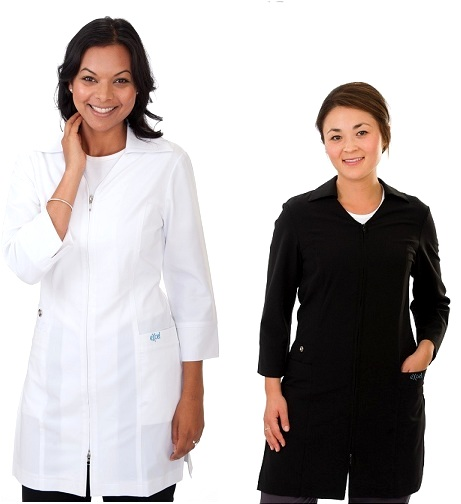 E865J Excel  Two-Ways Zipper Long Spa Uniform <br>(XXS - 2XL) *Stretch*