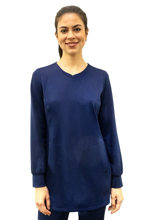 4001 Healing Hand Fatima Long Sleeve Top <br>with Cuff Stretch