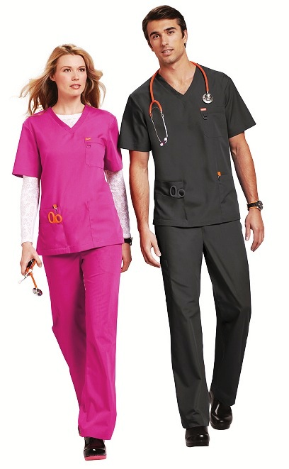 G3107 Orange Balboa Scrub Top <br>XXS - 5XL