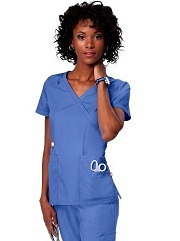 G3109 Orange Del Mar Scrub Top <br>XS - 3XL