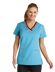 GA41451-CSK Grey's Anatomy Coolwater Speckle Scrub Top *FINAL SALE*