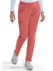 GIP507 Grey's Anatomy Impact Moto Pintucks Pants Stretch <br>Vermillion Orange