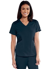 GIT033 Grey's Anatomy Impact Moto Pintucks Top Stretch
