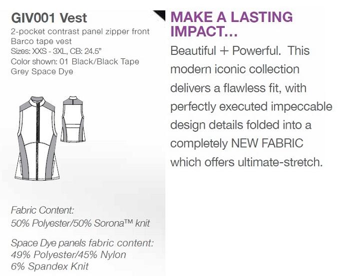GIV001 Grey's Anatomy IMPACT Sleeveless Vest Top *Athletic Design*