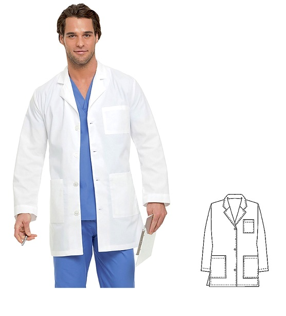 GL001 Klik Fits Gold Label Short Lab Coat 65/35 Polycotton Unisex Philly <br>(XXS - 3XL)