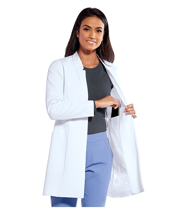 GNC003 Grey's Anatomy Tailored Stretch Lab Coat <BR>Non Yellow, Fully Lined