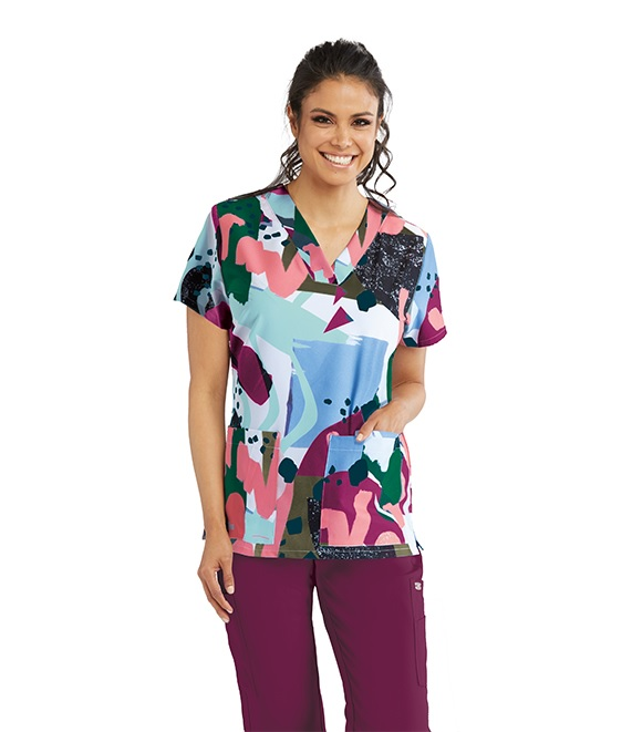 GNT030-MUSE Grey's Anatomy Print STRETCH Top <br>FINAL SALE (XL)