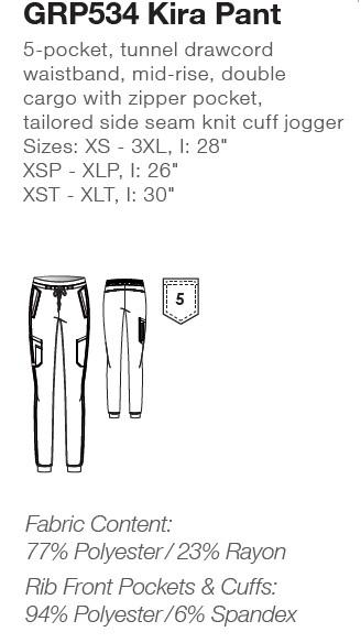 GRP534 Grey's Anatomy Kira Jogger Pants