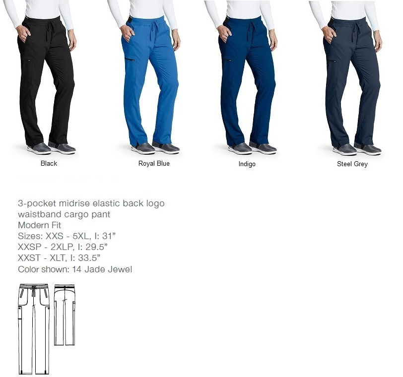 GRSP500 Grey's Anatomy Scrub Pants (Regular, Tall, Petite) *STRETCH*