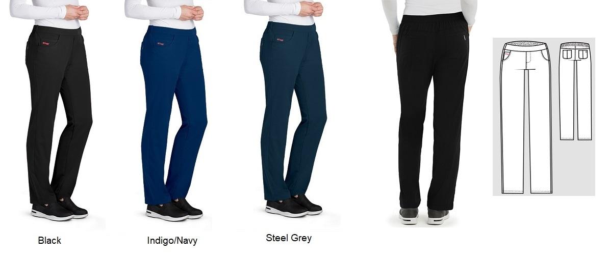 GRSP510 Grey's Anatomy Flat Front Pants STRETCH  <br>FINAL SALE