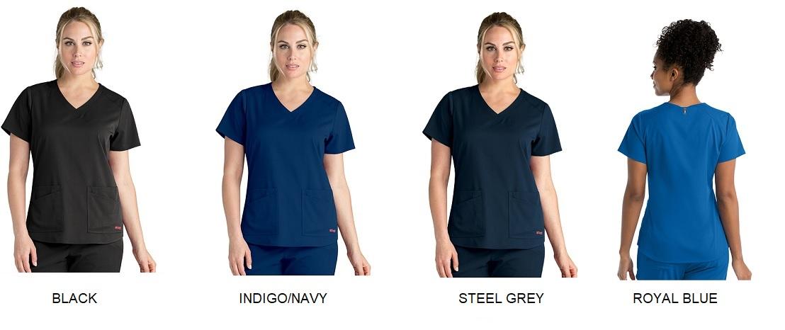GRST011 Grey's Anatomy Scrub Emma Top *STRETCH* <BR>XXS- 3XL