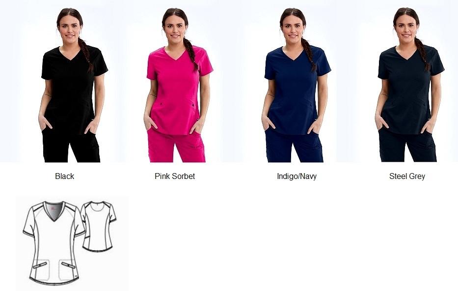 GRST013 Grey's Anatomy Zoe Top <br>Stretch