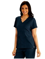 GRST027 Grey's Anatomy Scrubs Empire Waist Top