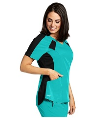 GVST003 Grey's Anatomy  Top Color Block *STRETCH* FINAL SALE