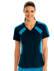 GVST003 Grey's Anatomy  Top Color Block *STRETCH*