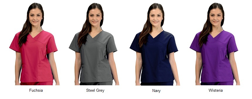 KW110T Klik Fits Colombo Crossover VNeck Scrub Top <br>XXS - 3XL