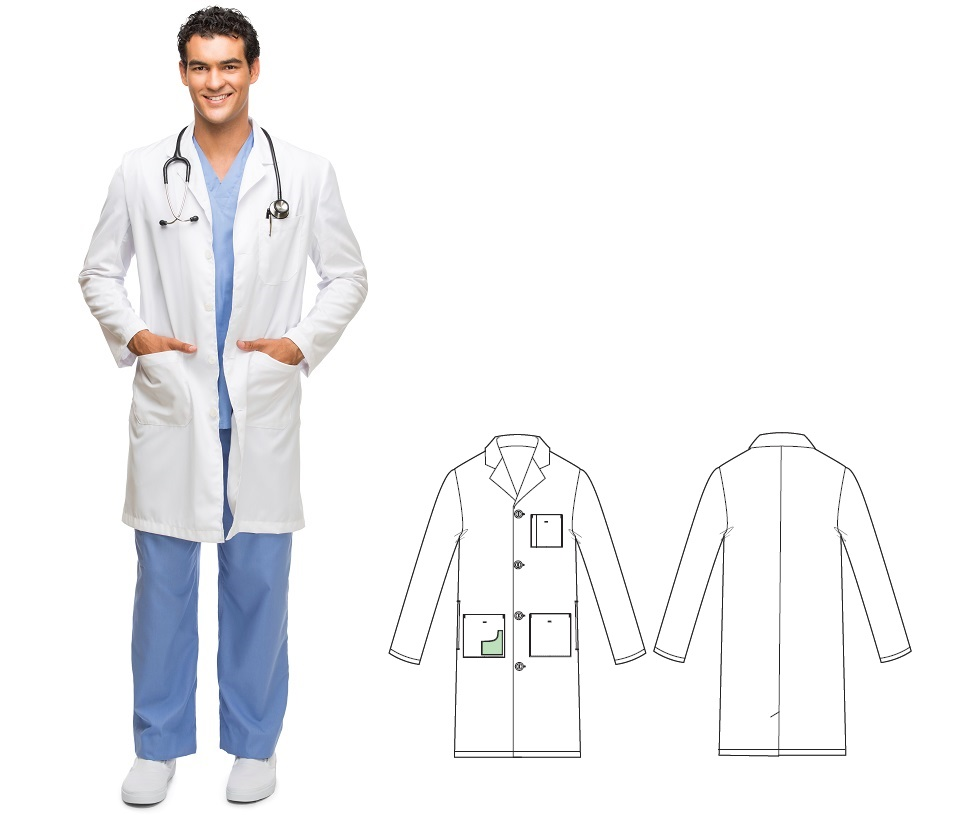 KL001 Klik Fits Full Length Lab Coat 65/35 Polycotton Unisex Houston <BR>XXS-3XL