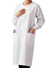 KL005 Klik Fits Full Length Lab Coat Unisex <BR>Round Neck with Cuff <BR>XXS - 3XL