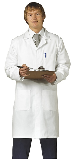 L001 Full Length Lab Coat 42'' Length<br>(Premium Fabric 170 gsm) <br>XS,2XL
