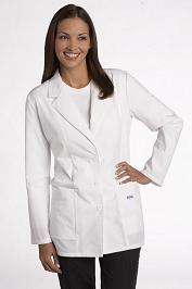 L395 Mobb Women Fitted Lab Coat - 7oz Thick Fabric