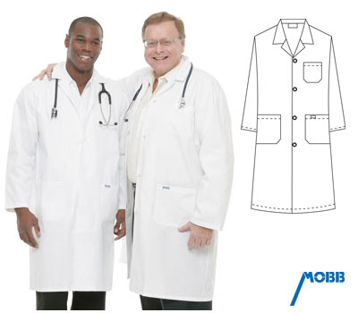 L406 Mobb Full Length<br>Lab Coat (Button)