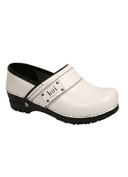 KS-WH Koi By Sanita Lindsey Nursing Clog <br>(White)