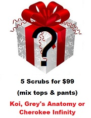 Mystery Buy - Woman Scrubs from Koi and Grey's Anatomy <br>(Final Sale - Online Only)