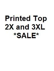 KOI FINAL SALE PRINTED TOP (2X,3X)
